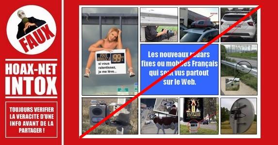 Non, ces nouveaux radars vus partout sur le Web ne sont pas en France, ni en Belgique.