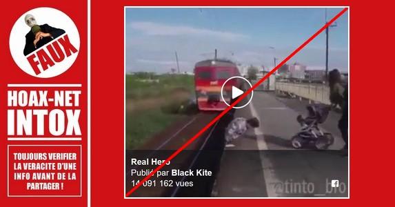 Non, il n'est pas le «héros» qui a sauvé ce bébé au passage d'un train.