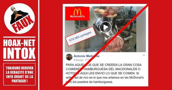 NON, on ne met pas des pattes de poulet et des os moulus dans les hamburgers McDo