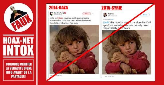 Non, cette petite fille n'est pas syrienne.