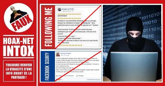 Non, taper «following me» ou «Facebook Security» ne vous montre pas une liste de pirates ou de gens qui vous surveillent.