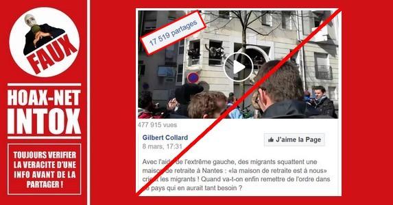 NON, des migrants ne squattent pas une maison de retraite à Nantes