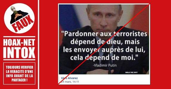 Non, cette citation n'est pas de Vladimir Poutine