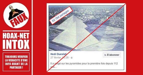 NON, les pyramides et le sphinx en Égypte ne sont pas sous la neige.