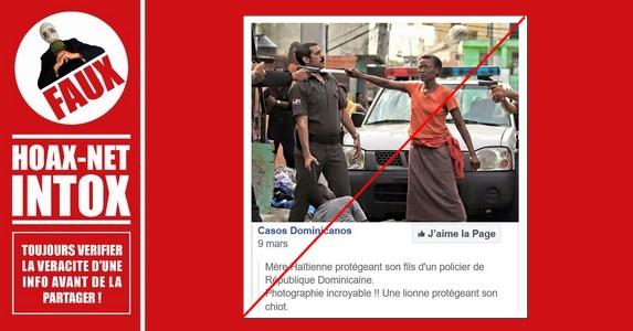 Non, une mère haïtienne ne protège pas son fils contre la Police de la République Dominicaine