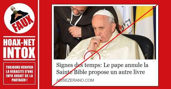 NON, le Pape n'annulera pas la bible.