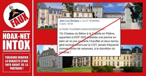 NON, ces 16 châteaux n'appartiennent, et ne sont pas gérés par des syndicats.