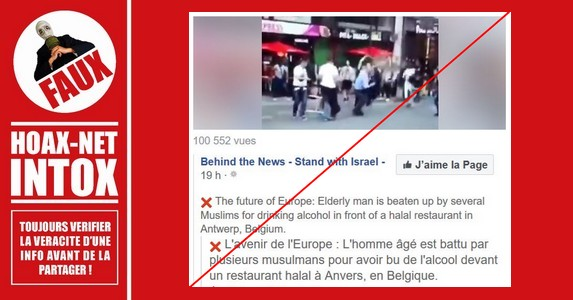 Non, des musulmans n'ont pas attaqué un père et son fils à Anvers, mais ont riposté.
