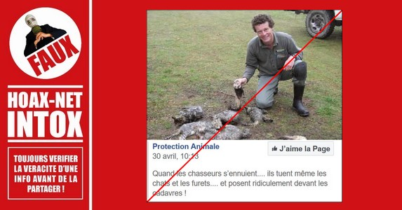Non, l'homme sur cette photo, n'est pas un chasseur qui a tué ces animaux