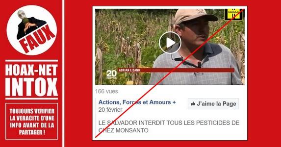 Non, les pesticides «Monsanto» ne sont pas interdits au SALVADOR.