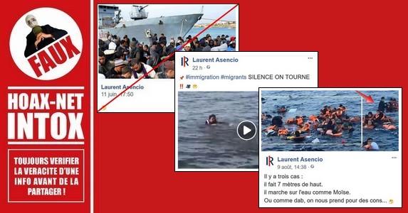 Manipulations de photos et vidéos concernant le naufrage des réfugiés.