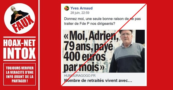 NON, les retraités ne vivent pas avec 400€/mois et les migrants n