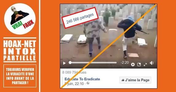Mise au point sur cette vidéo montrant des «musulmans» détruisant les tombes d'un cimetière Britannique.