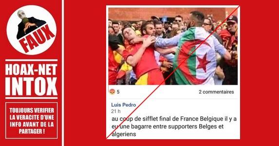 Non, ce n'est pas une image datant de la coupe du monde 2018 en Russie.