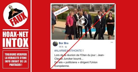 Non, le président de la CE n'était pas ivre à la réception officielle du Sommet de l'OTAN.