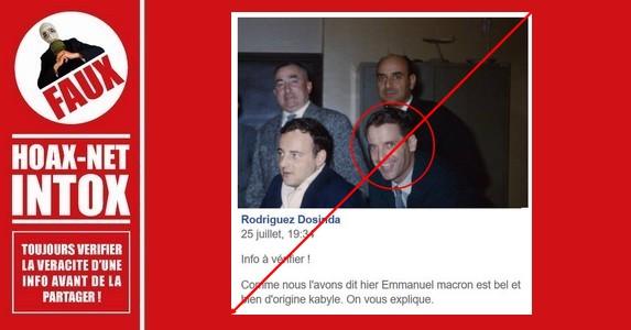 Non, Emmanuel Macron n'a pas d'origine Kabyle.