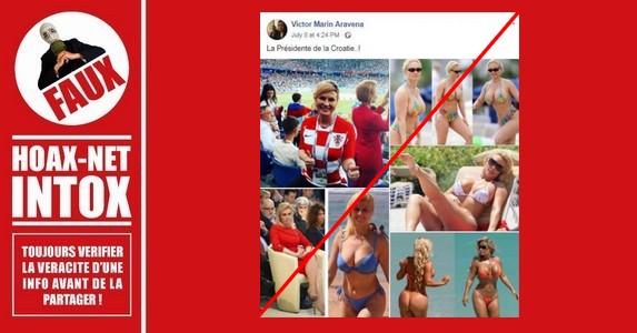 Les fausses photos en bikini de la Présidente de la Croatie aux 2 visages