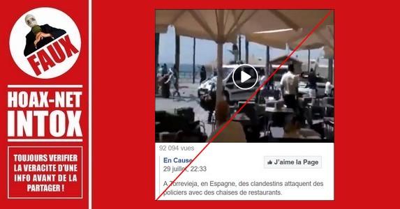 Non, des migrants n'ont pas chassé la police espagnole à Torrevieja en Espagne