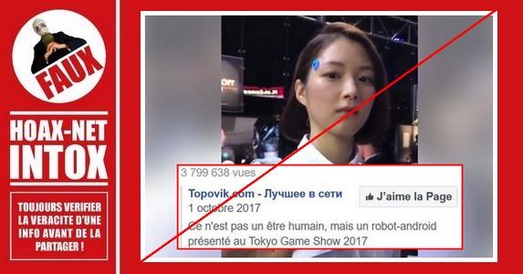 Non, cette jeune femme japonaise n'est pas un robot