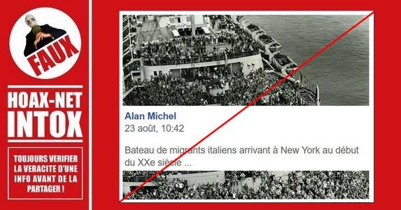 Non, ce ne sont pas des immigrés Italiens arrivant a New-York au début du XXe siècle.