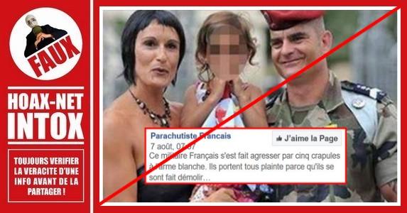 Non, un militaire français n'a pas été agressé par 5 «racailles».