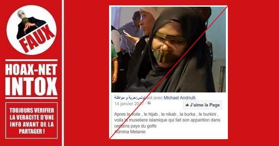 Non, les femmes iraniennes ne portent pas de muselière islamique.