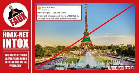 Non, une mosquée ne va pas être construite au 1er étage de la Tour Eiffel