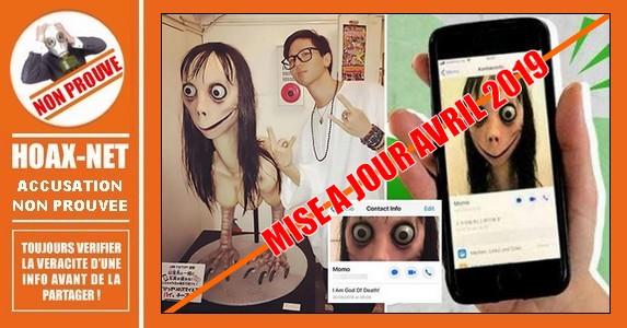 Le Momo Challenge, un défi sordide qui vise  les enfants sur WhatsApp.