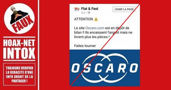 Non, le site Oscaro.com n'est pas en faillite