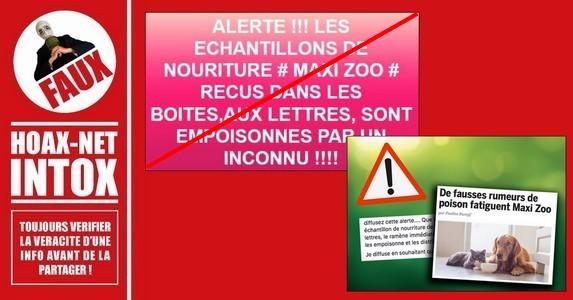 Les rumeurs concernant des échantillons Maxi Zoo empoisonnés sont fausses