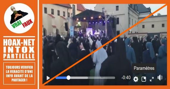 Cette vidéo des nonnes qui dansent est vraie,  mais pas sur une musique trance Electro