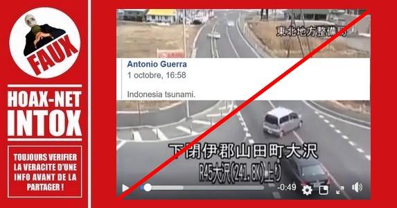 Non, il ne s'agit pas du Tsunami en Indonésie.