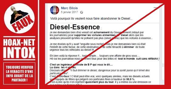 NON, le gouvernement ne veut pas se débarrasser des voitures diesel pour des raisons fiscales.