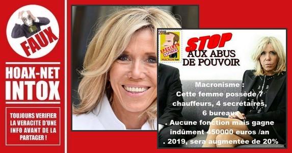 Non, L'Élysée n'a pas demandé une augmentation du budget pour Brigitte Macron