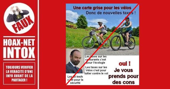 Non, il n'y aura pas de carte grise pour les vélos en France