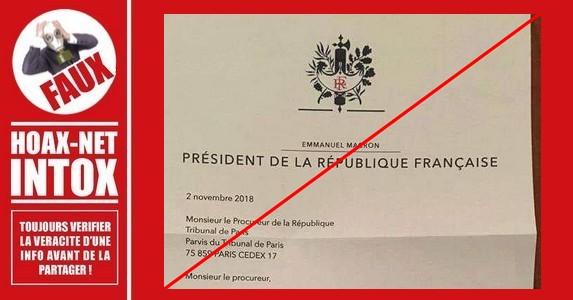 Non, ce n'est pas une lettre du Président E.Macron.