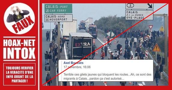 Non, cette photo ne montre pas des migrants à Calais pour lesquels tout serait autorisé