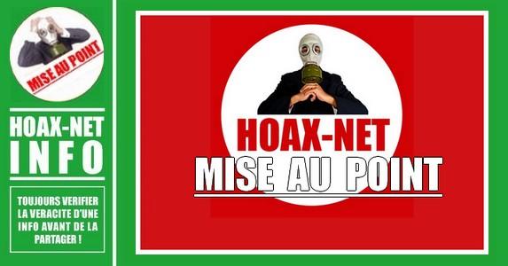 Mise au point concernant la page et le site Hoax-Net.