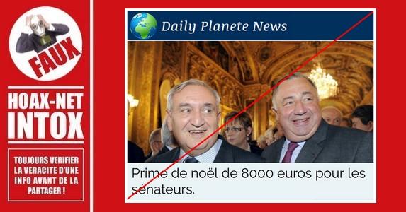 Non, les sénateurs ne toucheront pas 8000 euros de prime de Noël en 2018.