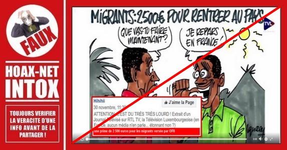 Non, un ressortissant voulant rentrer dans son pays ne touche pas automatiquement 2500€