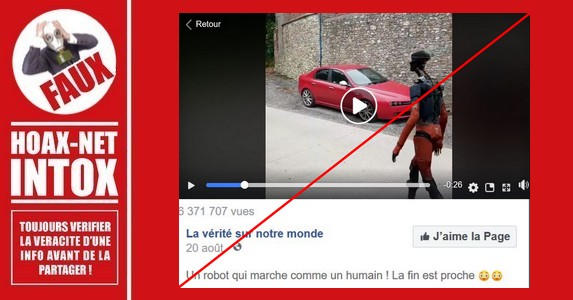 Non, le robot humanoïde de cette vidéo n