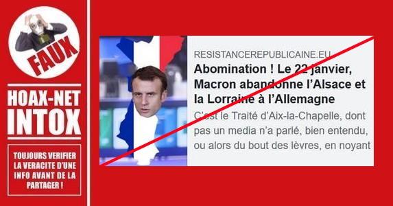 Non, Macron ne va pas «vendre» l'Alsace-Lorraine à l'Allemagne (ni lui céder son siège à l'Onu)