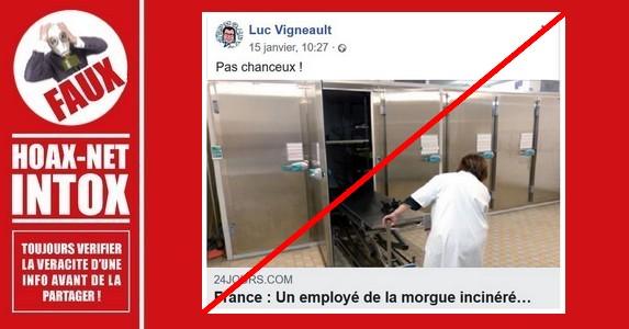 Non, un employé de la morgue n'a pas été incinéré par accident pendant sa sieste.