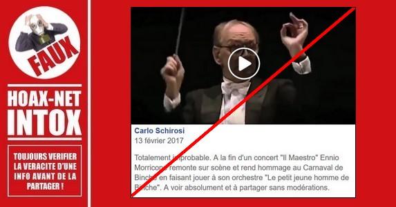 Non, Ennio Morricone n'a pas rendu hommage aux Gilles de Binche.