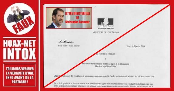 Non, Christophe Castaner ne va pas saisir toutes les armes des Français.