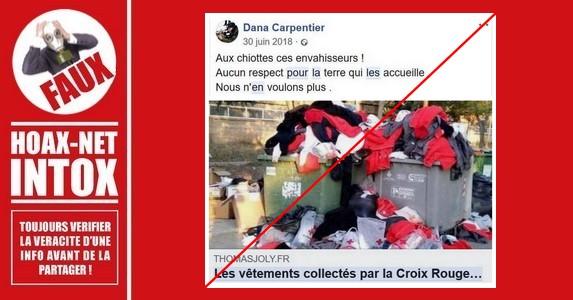 Non, les migrants de l'Aquarius n'ont pas jeté de vêtements donnés par la Croix Rouge