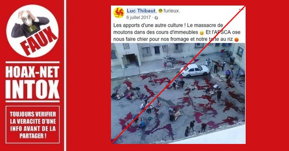 Non, cette image sanglante de la fête de l'Aïd El Adha n