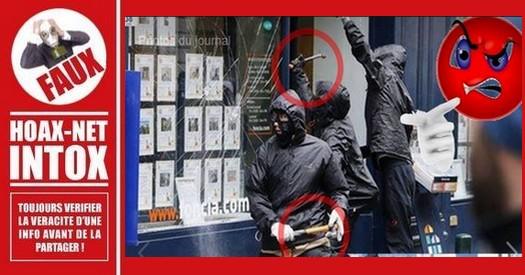 Non, cette photo de 2016 ne montre pas des policiers déguisés en casseurs