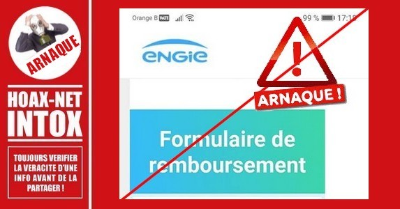 ATTENTION, faux e-mail de remboursement ENGIE/Electrabel