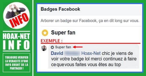 INFO- Badge Facebook sur vos pages préférées